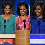 Michelle Obama at #DNC in 2008, 2012, and 2016 #DemsInPhilly https://t.co/DDjDbHlIdr