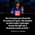 FLOTUS @MichelleObama gives a fiery speech in support of Hillary at #DemsInPhilly: https://t.co/5YR6VVPGyE https://t.co/eeDBMN1iYE
