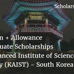 https://t.co/AFbbcz7b9x Beasiswa FULL + Biaya Hidup di KAIST, KOREA SELATAN #Jul26 https://t.co/OpzTNbyS7m