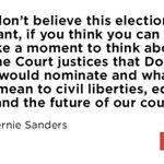 Bernie Sanders talks about the Supreme Court under a Trump presidency: https://t.co/HdBh7Bq8fQ https://t.co/T2NFJC9lwJ