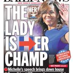 .@FLOTUS speech gets the @NYDailyNews to change their front page. Will it change the narrative of this day, too? https://t.co/qda0PEBb0p