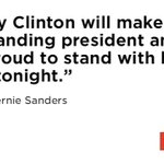 Bernie Sanders emphatically endorsed Hillary Clinton at close of #DemsInPhilly speech: https://t.co/HdBh7Bq8fQ https://t.co/ebXbBYVasc