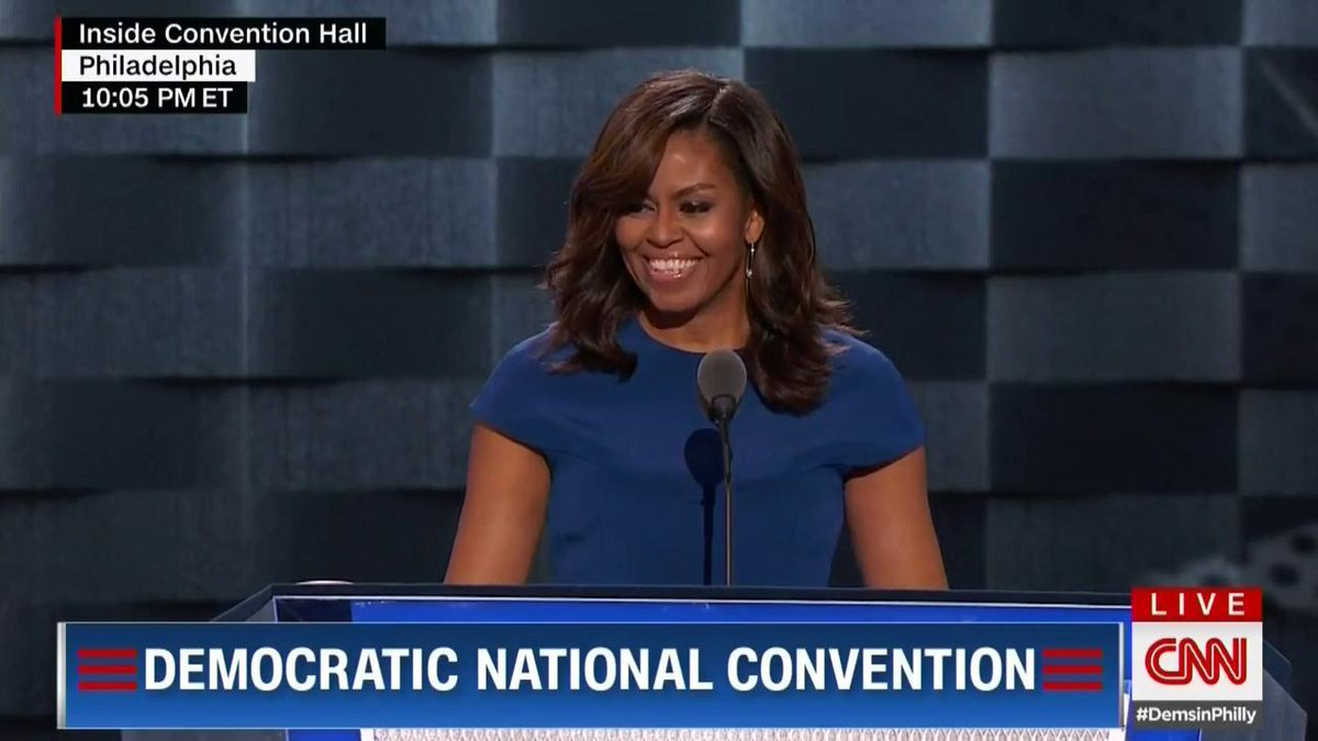 Michelle Obama took aim at Donald Trump (without mentioning his name) at