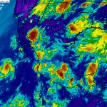 Celdas de tormenta en Son, Sin, Dgo, Nay, Jal, Mich, EdoMéx, Hgo, Mor, CDMX, Pue, Oax, Chis y Tab. https://t.co/NWOU8e14pf