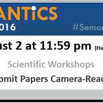 Reminder – Important Date! Details --> https://t.co/xrbNNnRTZx #BigData #Workshops #DataScience #Semanticsconf https://t.co/uxQJJPJUrF