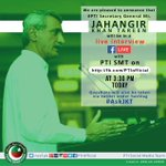 PTI Secy Gen @JahangirKTareen will be in a live interview with PTI SMT on https://t.co/YSNJXivcxW at 3:30 pm today https://t.co/jYnQgBRU6p