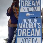 """There is an uproar over the latest DA posters which says; """"Honour Madibas dream by voting DA"""" #AMLive #sabcnews https://t.co/3QPwXZXjBK"""