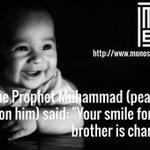 """"""" تبسُمك في وجه أخيِك صدقة""""  . محمد رسول الله ﷺ https://t.co/lX2FnYlitV"""