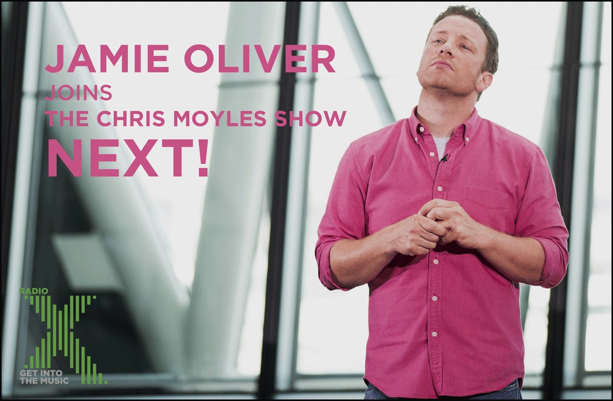 RT @RadioX: STANDBY! The wonderful @JamieOliver joins us NEXT for his hat-trick appearance on The @ChrisMoyles Show https://t.co/wxi3n0D9Gh