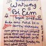 """Untuk Angkatan Tidak Bersenjata Insomnia Indonesia, launching """"Warung Bi Eem"""" MALAM INI di Rmh ThePanasdalam. Gratis https://t.co/XZWHmzuC6K"""