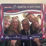 Great sponsors reception celebrating Bath stage @TourofBritain with @KLM_UK @OfficialBRS & @bathnes #BathToB #Selfie https://t.co/TuID9VmLXq