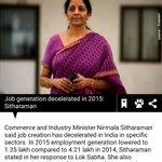 Bhakts ll deny but now even commerce minister @nsitharaman admits that job creation has gone negative under modi https://t.co/B29iseVngz