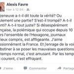 La France de ces derniers jours vue de Suisse par @alexisfavre. Je partage car je partage. https://t.co/wTrOfgd636