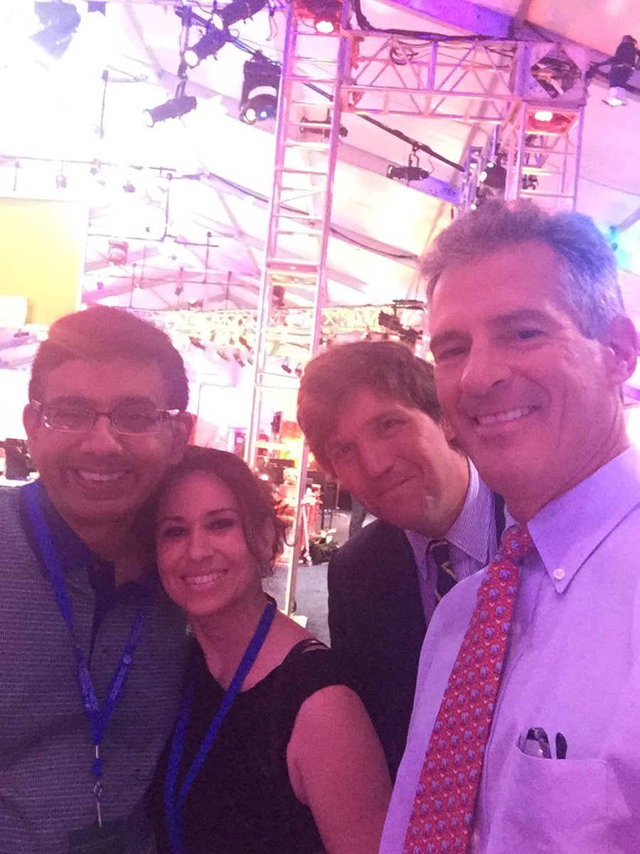 With @DineshDSouza, his wife, @TuckerCarlson @ #DNCinPHL. Loved his movie #HillarysAmerica. A must see before u vote https://t.co/Ydn3GnvQy4