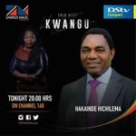 Join us tonight on @zambezimagictv DStv 160 with Pres. Hakainde Hichilema 20hrs #Zambia #UPND2016 #ZMTalkWithKwangu https://t.co/a7vmi9dYQ9