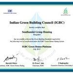 Art of Living Soudhamini Campus given highest Platinum Award for Global Leadership in Environment & Energy Practices https://t.co/dV2gLZJ2Ji