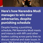 Heres how PM manages to win over adversaries, despite punishing schedule https://t.co/ExvkEkA7wk  via NMApp https://t.co/WuY0QRMyCc