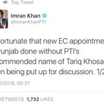 Tariq Khosa: I dont qualify 2 b ECP member as per rules, PTI didnt even bother to consult me b4 issuing statement https://t.co/E3ZVuBas3r