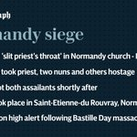 Normandy siege: Knifemen shouted Daesh and slit priests throat after taking nuns hostage https://t.co/FpJAeJowx0 https://t.co/Nvi4YN4SgE