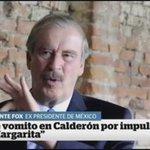 "Vicente Fox: ""Me vomito en Calderón por impulsar a Margarita"" https://t.co/kKBhXmudWg"