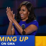 """ON @GMA: """"In this election, Im with her."""" - @FLOTUS speaks at #DemConvention. https://t.co/NXgh8qPzgq"""
