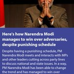 Heres how Modi ji manages to win over adversaries, despite punishing schedule https://t.co/S1bAHelOq3 via NMApp https://t.co/0knCJ7nht8