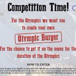 ITS COMPETITION TIME! The #Olympics2016 starts next Friday & we want you to design our Olympic #burger! Tweet us! https://t.co/iT9OPylndC