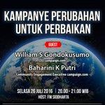 Jangan lewatkan Indonesia Bersaing malam ini hanya di Sindotrijaya, 104.6 FM - The Real News and Information https://t.co/DDOFCxpETN