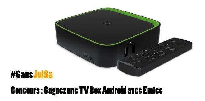 #Concours :  Gagnez une TV Box Android @EMTECIntl en commentant sur https://t.co/a2IPRSOhJK puis Follow @JulSa_ + RT https://t.co/2TwdqWHSih