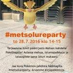 Torstai on Pokémonien kirjastopäivä. Nähdään Metsossa? #trekirjasto #Tampere #PokemonGOFinland https://t.co/UBMylEo8PM