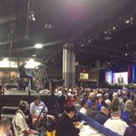 Inside the #VFWConvention where #DonaldTrump is expected to speak shortly. https://t.co/3bh7TGrHFp