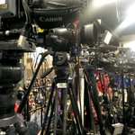 Press is ready for @realDonaldTrump to speak to veterans at the #VFWConvention in Charlotte @theobserver @VFW https://t.co/GzxNwMIrnB