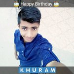 #HBDKhuramShahzad Stay blessed nd hpy 🎉 may yew hv many many more ☺😊 @ItsKhuram https://t.co/NqmXesMHUC
