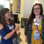 Colorado delegates (and #DemsInPhilly roommates) @jenejacksonspen and Angelina Hagan at their hotel. #demdelegate https://t.co/5EuJnoA5qo