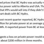BC Hydro losing $2.2 million a day on reselling private power. #bcpoli https://t.co/1CCFKUrJlP https://t.co/GnXcxAlgxk