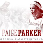 #Sooners sophomore @paigeparker008 has been named Big 12 Female Athlete of the Year!  https://t.co/fa2GklJBhZ https://t.co/h3jJlUzARQ