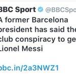 حصري : رئيس برشلونة السابق خوان لابورتا يقول ان هناك مؤامرة داخل النادي للتخلص من ميسي والمصدر bbc https://t.co/QvymhtFH2N