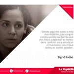 "Lee la columna de @sigridbazan : ""Ni una menos"" https://t.co/qHgKomFsyj https://t.co/1MggxIGK8i"