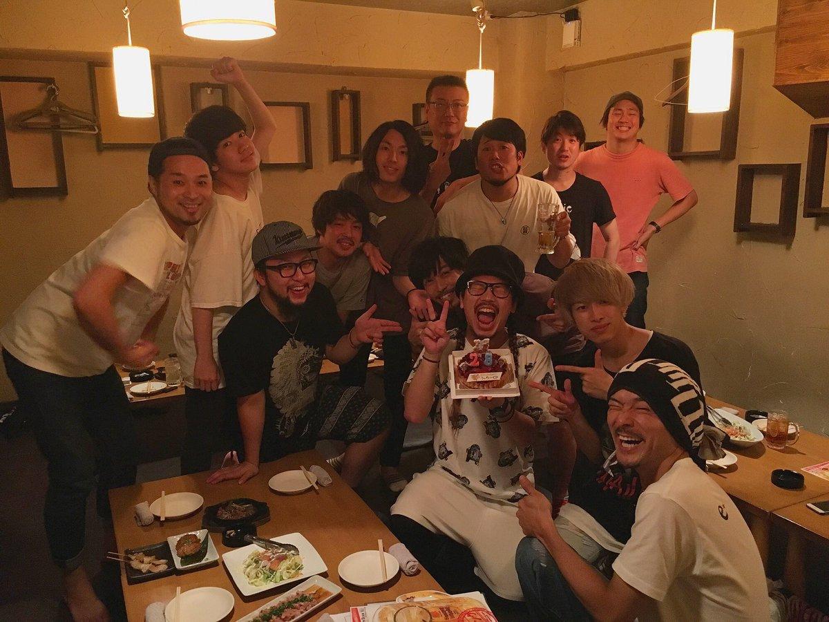 【内田HBD♪】 本日7月27日はVo.内田の誕生日!!  小倉にてみんなに祝ってもらいました!! …