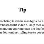 Hoe jij al een supergroot verschil kunt maken voor 1,5 miljoen slechthorende en dove Nederlanders! #tip #video https://t.co/nvCrTMEDWE