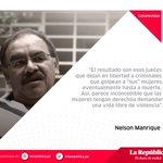 "Lee la columna de @nelsonmanrique: ""Ni una menos, en la guerra y en la paz"" https://t.co/rJUtJMwuZW https://t.co/EoRmosVmEn"