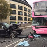 Red Watch attended an accident on Reading Bridge involving a Bus and a Range Rover with the Heavy Rescue Unit https://t.co/bkmanJKoEx