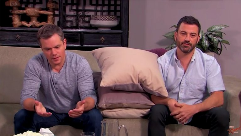 Watch: Matt Damon and Jimmy Kimmel return to couples counseling on 'Jimmy Kimmel Live'