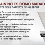"""Tras el pase del Pipita a la Juve, Totti aseguró: """"Higuaín no es como Maradona"""". https://t.co/SKdaY2dDZL"""