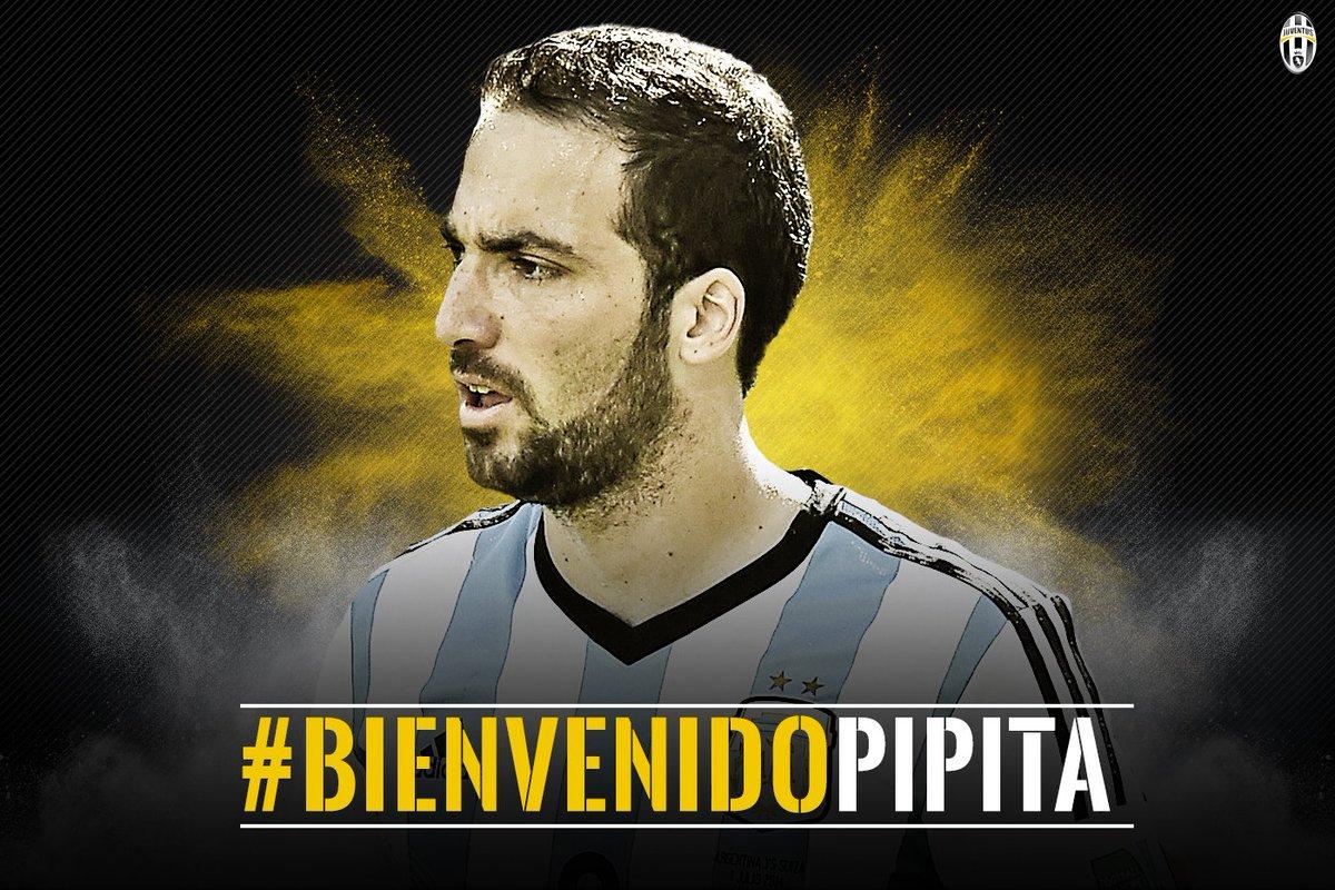 UFFICIALE - @G_Higuain  è bianconero! #BienvenidoPipita https://t.co/ygB1tZPHiw https://t.co/Jb1d9sFl21