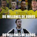 Borussia Dortmund armó un ataque de lujo por 86 M€. Juventus fichó a Gonzalo Higuaín por 90 M€. #FichajeHistórico https://t.co/5dmbqU9LKP