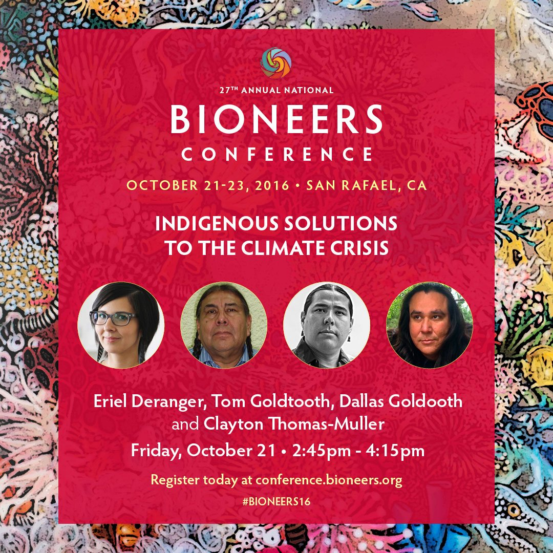 Groundbreaking #Bioneers16 workshop: #Indigenous Solutions to the #Climate Crisis https://t.co/4tHR0rPjvD https://t.co/Sua78uxdTj