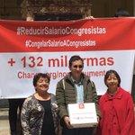 Clara, Gilma y Juan son ama de casa, empleado y pensionada con 132 mil firmas piden al Congreso #ReducirSalarios https://t.co/kZXc77cPxZ