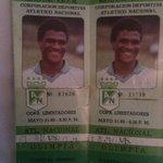 Las boletas de la final de 1989 cuando quedamos campeones de la primera Copa Libertadores. @nacionaloficial https://t.co/WnvYt7BVmZ
