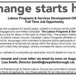 We are hiring! Labour Programs and Services Development Officer: https://t.co/o5SYo2cGsN #75YearsOfCaring https://t.co/PhovKYOqjY
